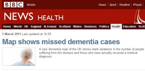 The study made the top story on BBC News health section