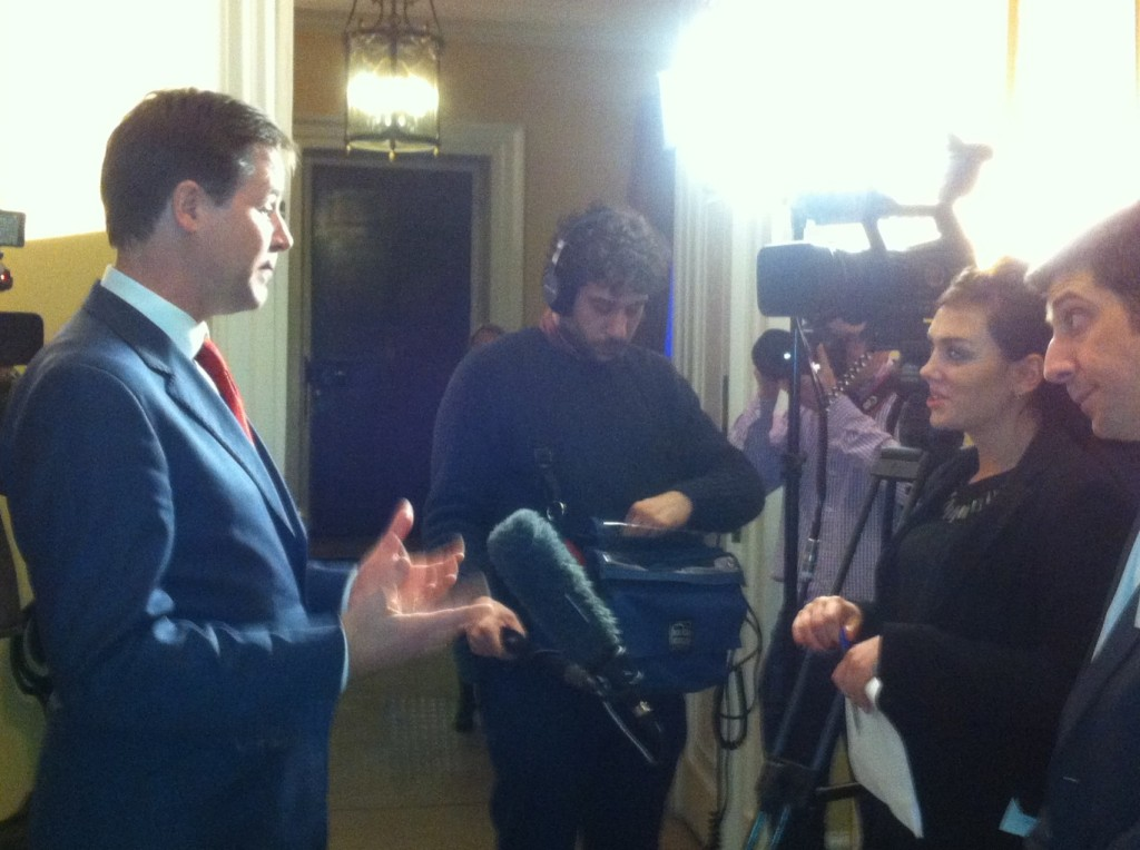 Claremont apprentice, Monica, interviews the Deputy Prime Minister during National Apprenticeship Week 2013