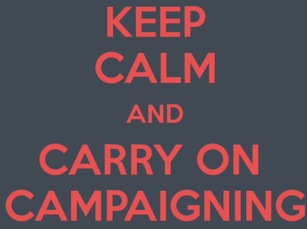 PRCA keep calm carry on wide