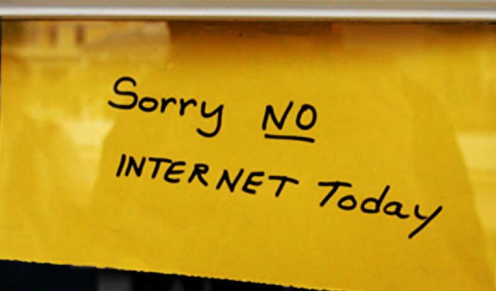 no internet web