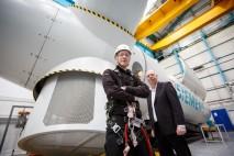 Siemen's engineering apprentices help build the next generation of wind turbines